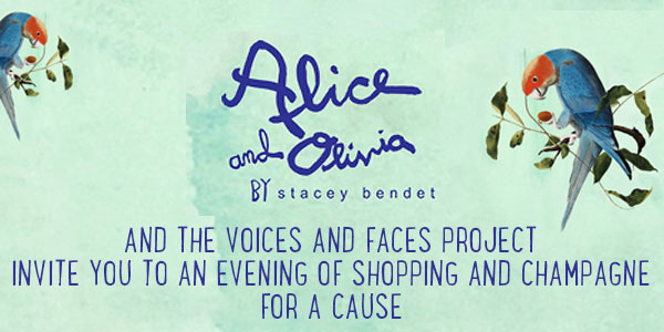Alice + Olivia and The Voices and Faces Project  invite you to an evening of shopping and champagne for a cause.