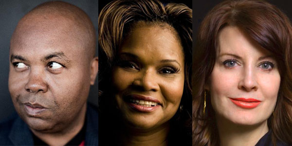 Public Radio's Glynn Washington and event honorees Brenda Myers-Powell and Anne K. Ream.